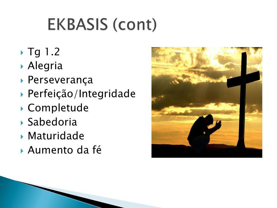 EKBASIS (cont) Tg 1.2 Alegria Perseverança Perfeição/Integridade