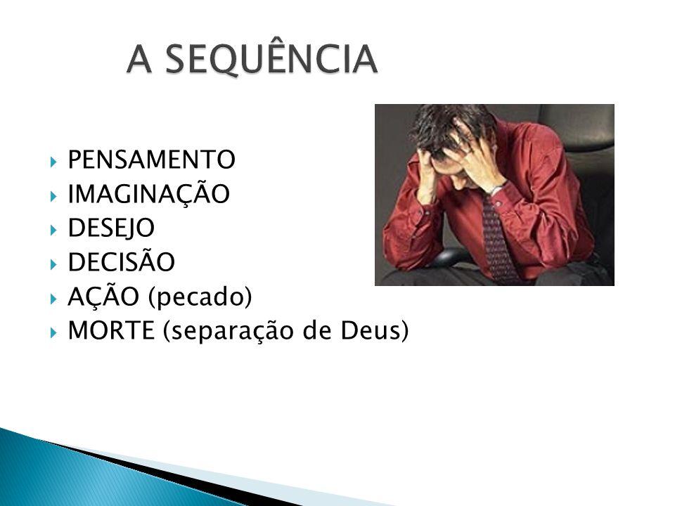 A SEQUÊNCIA PENSAMENTO IMAGINAÇÃO DESEJO DECISÃO AÇÃO (pecado)