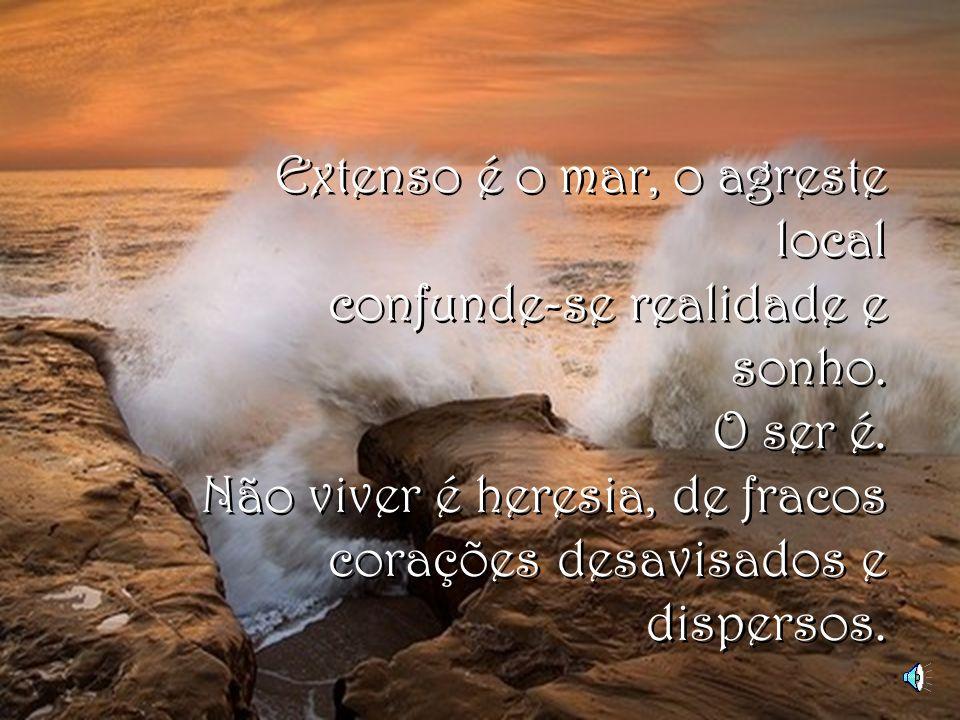 Extenso é o mar, o agreste local confunde-se realidade e sonho.
