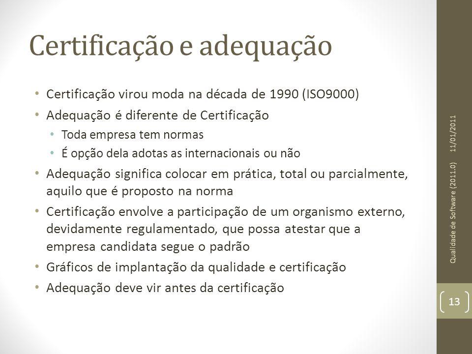 Certificação e adequação