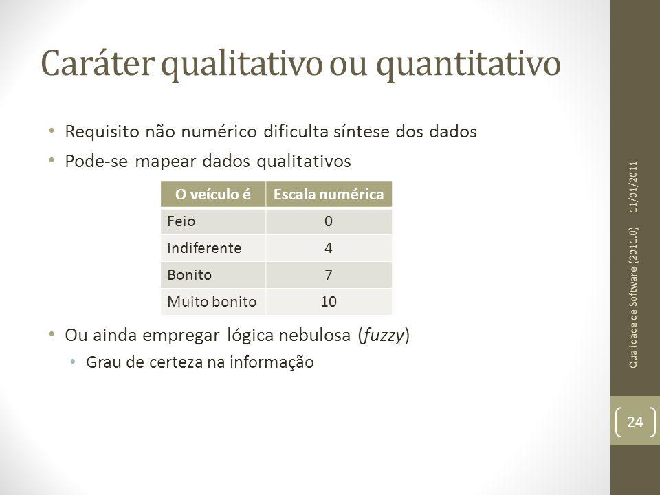 Caráter qualitativo ou quantitativo