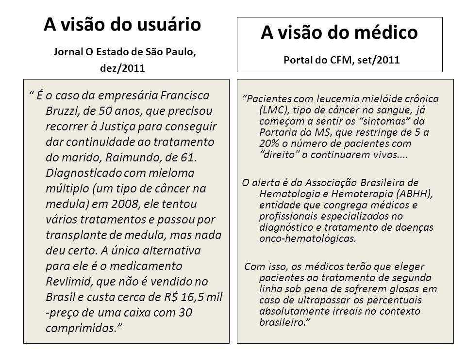 A visão do usuário Jornal O Estado de São Paulo, dez/2011