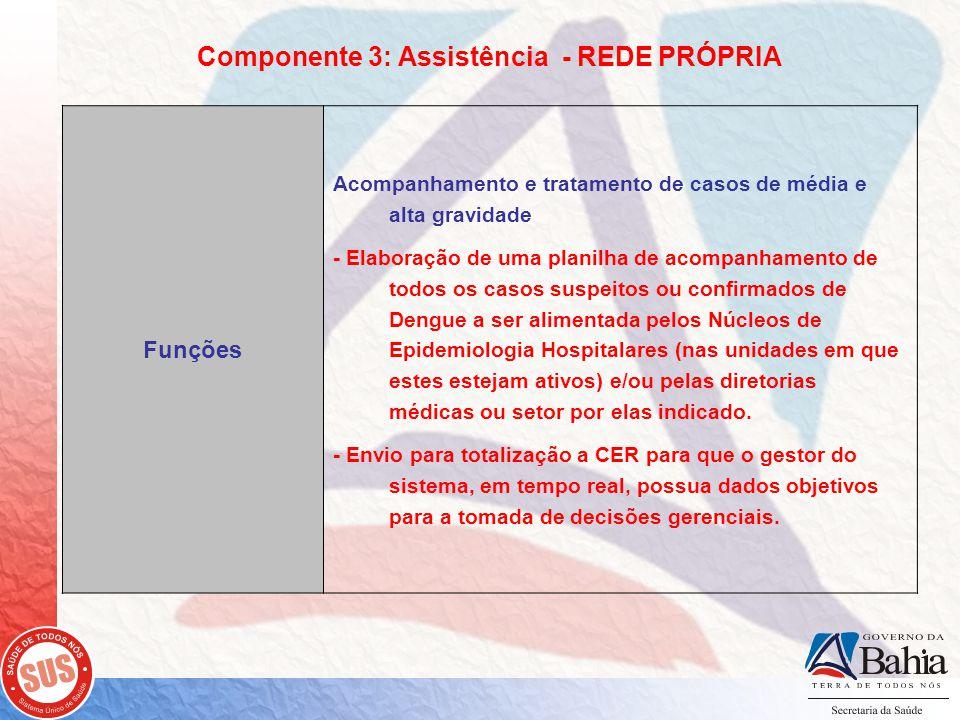 Componente 3: Assistência - REDE PRÓPRIA