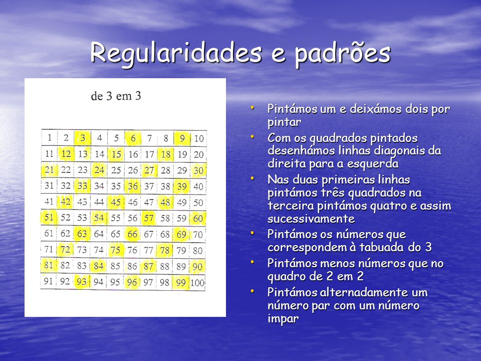 Regularidades e padrões