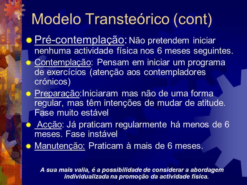 Modelo Transteórico (cont)