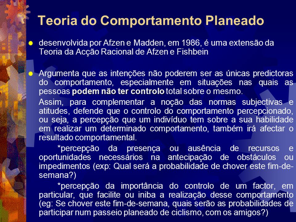 Teoria do Comportamento Planeado