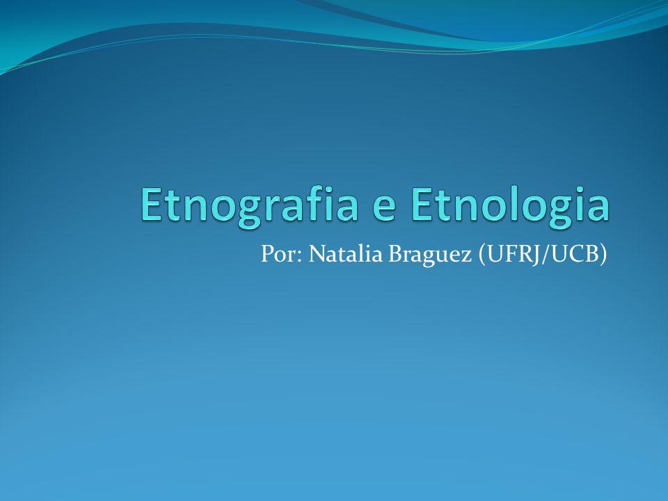 Etnografia e Etnologia