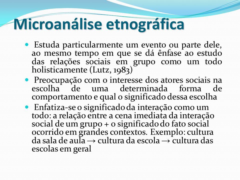 Microanálise etnográfica