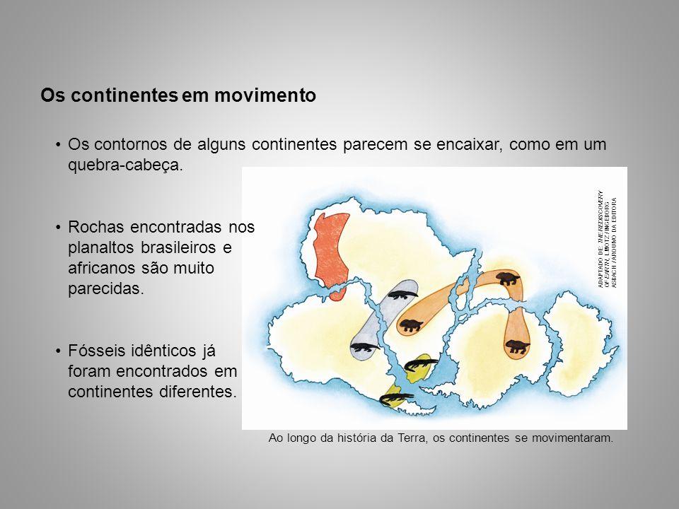 Os continentes em movimento