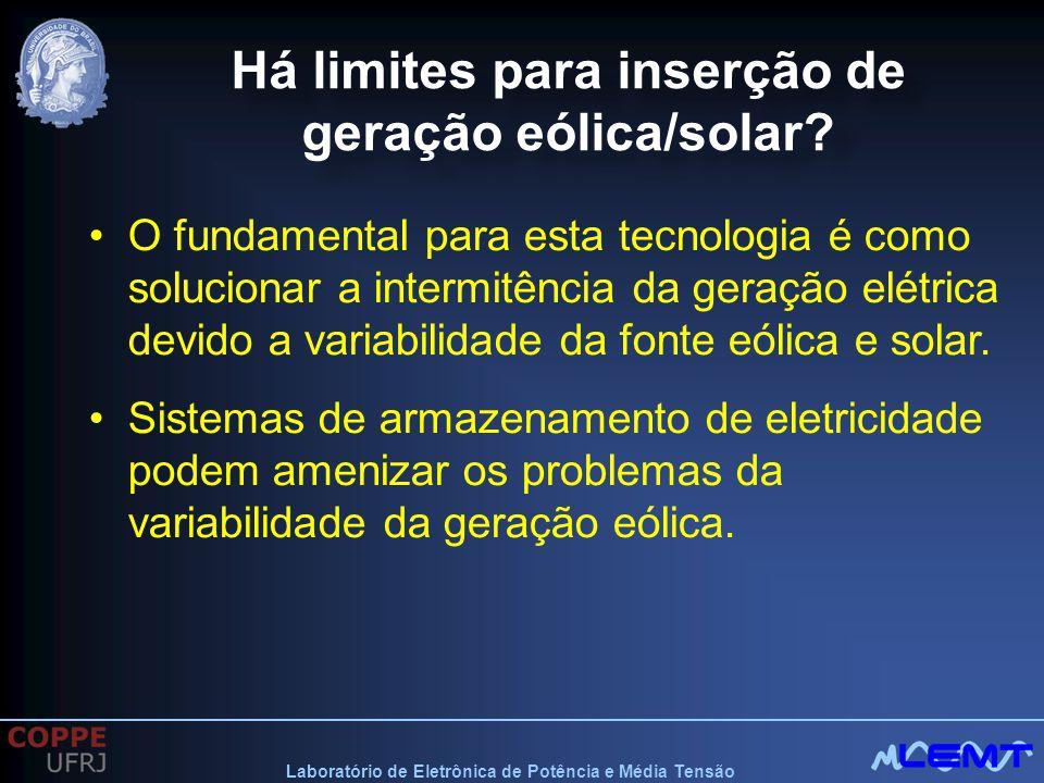 Há limites para inserção de geração eólica/solar