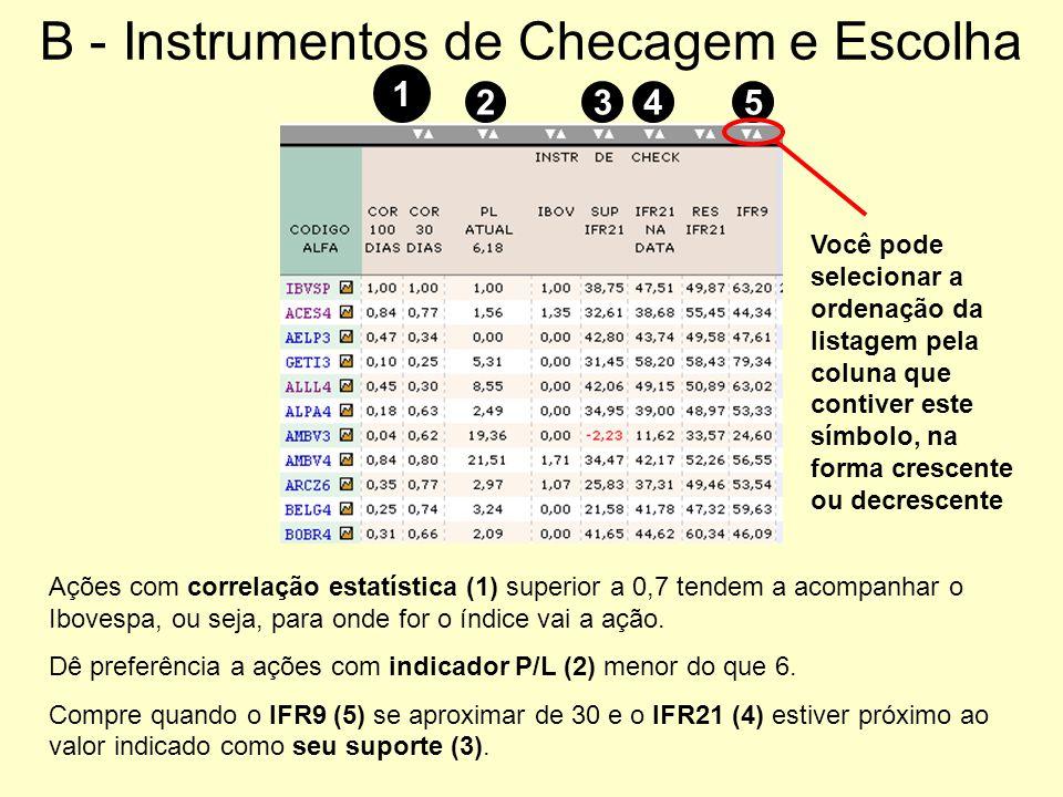 B - Instrumentos de Checagem e Escolha