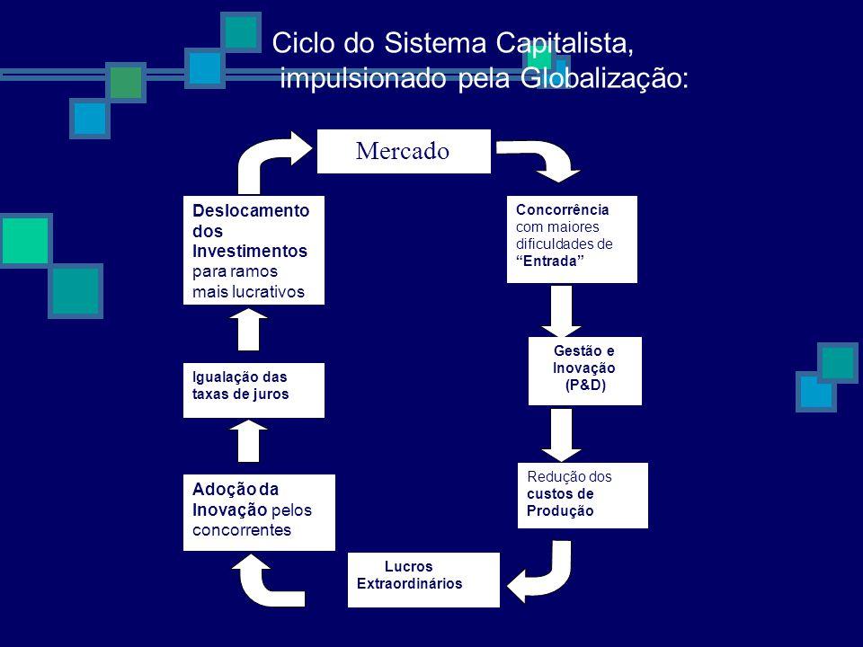 Ciclo do Sistema Capitalista, impulsionado pela Globalização: