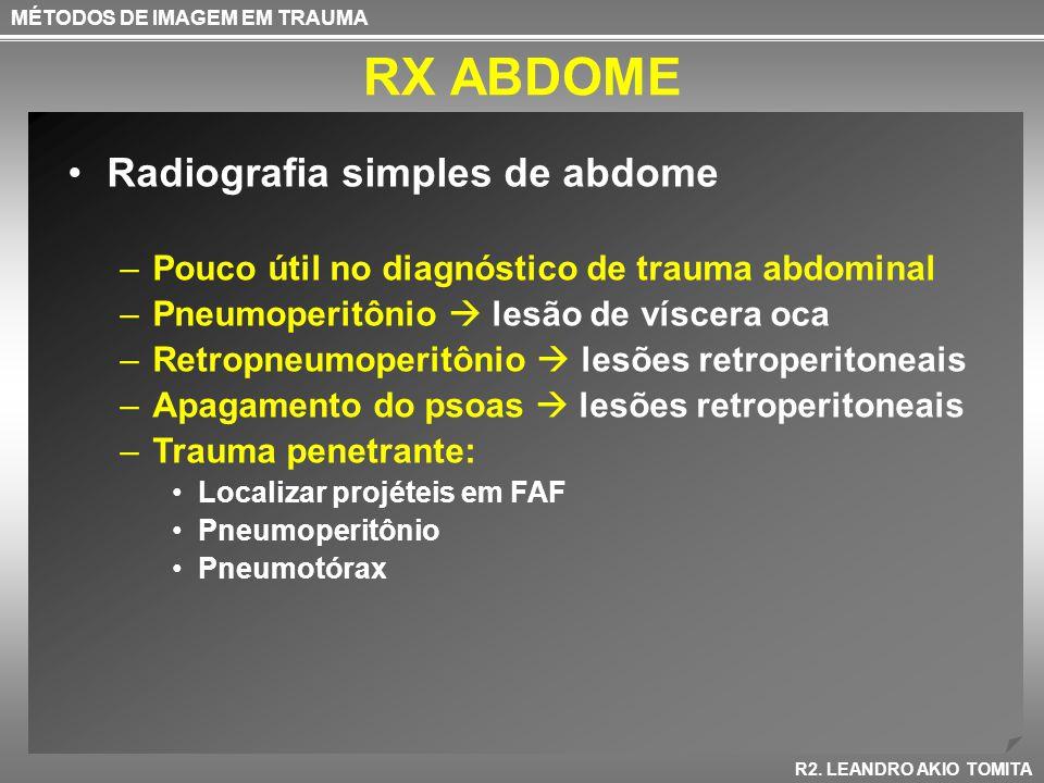RX ABDOME Radiografia simples de abdome