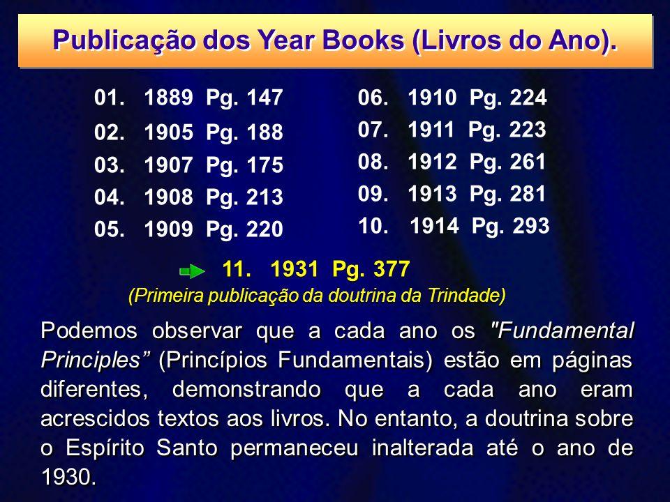 Publicação dos Year Books (Livros do Ano).