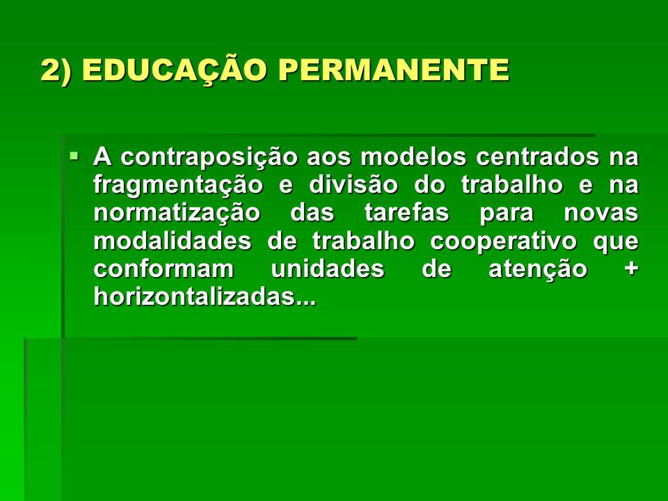 2) EDUCAÇÃO PERMANENTE