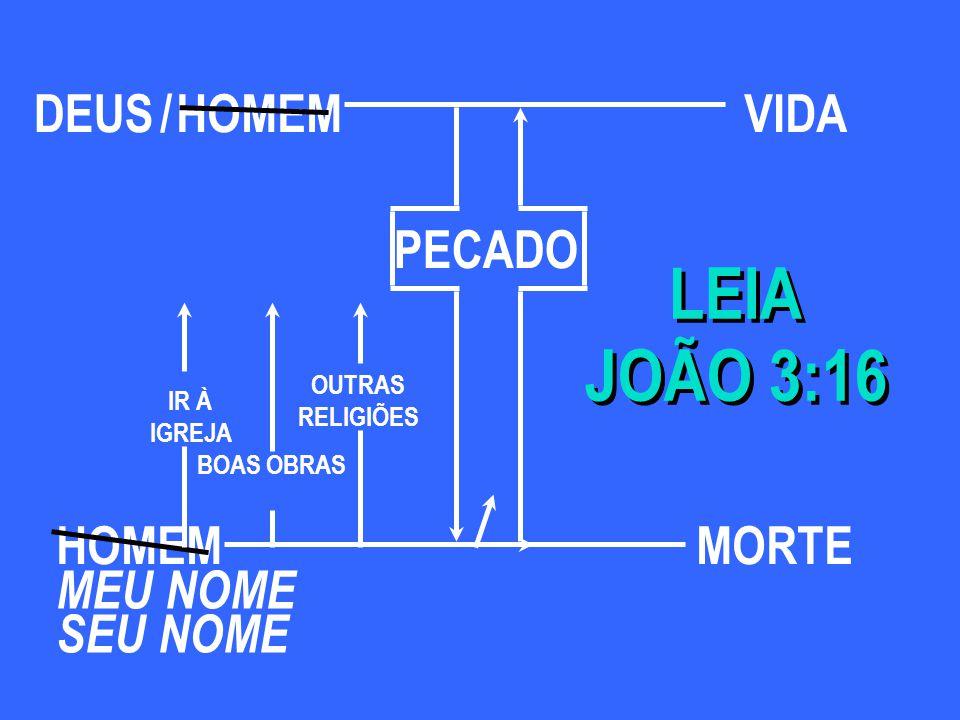 LEIA JOÃO 3:16 DEUS / HOMEM VIDA PECADO HOMEM MORTE MEU NOME SEU NOME