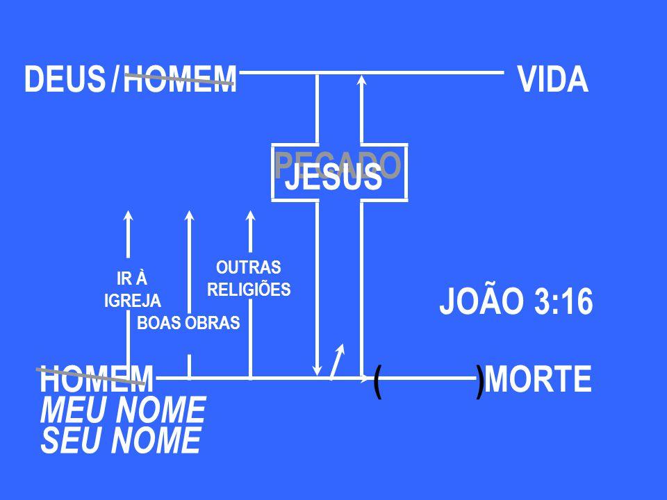 DEUS / HOMEM VIDA PECADO JESUS JOÃO 3:16 HOMEM ( ) MORTE MEU NOME