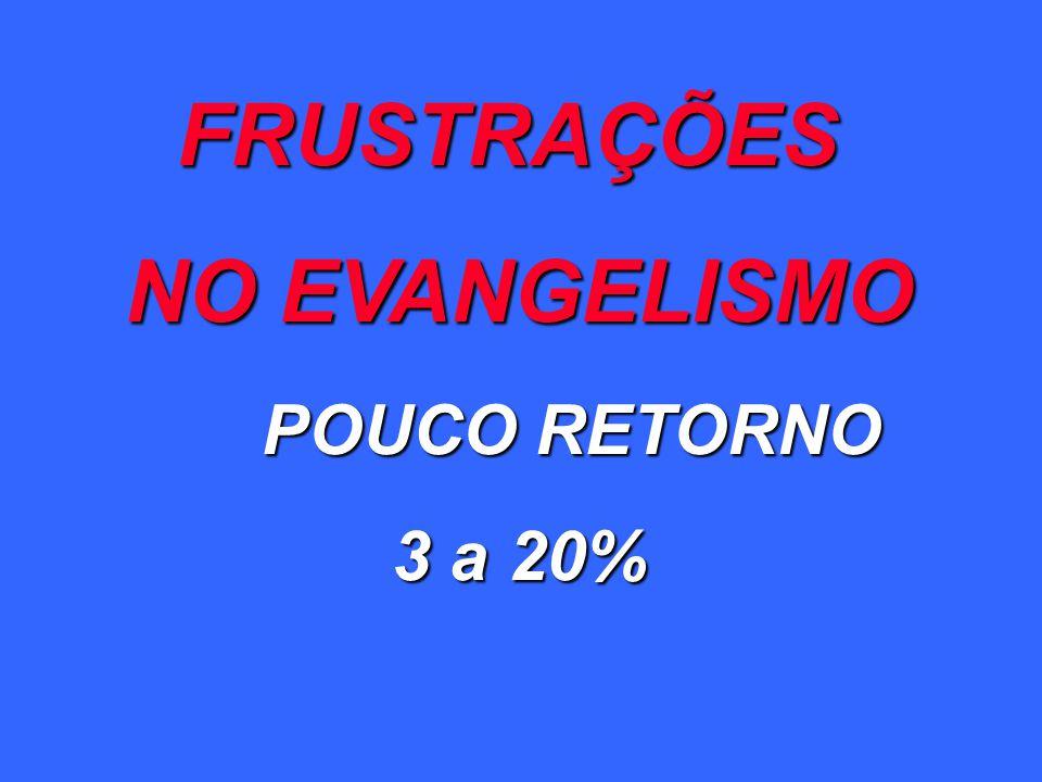 FRUSTRAÇÕES NO EVANGELISMO