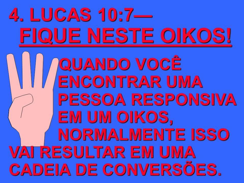 4. LUCAS 10:7— FIQUE NESTE OIKOS!
