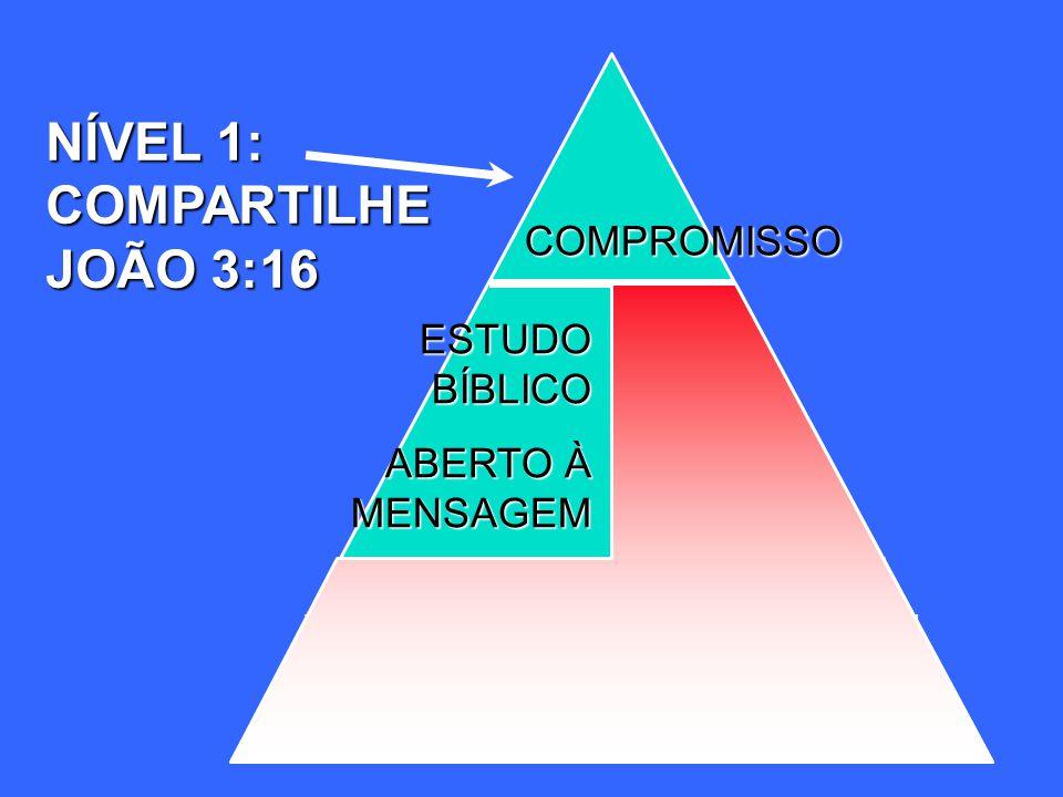 NÍVEL 1: COMPARTILHE JOÃO 3:16 COMPROMISSO ESTUDO BÍBLICO