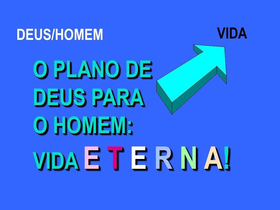 DEUS/HOMEM VIDA O PLANO DE DEUS PARA O HOMEM: VIDA E T E R N A!