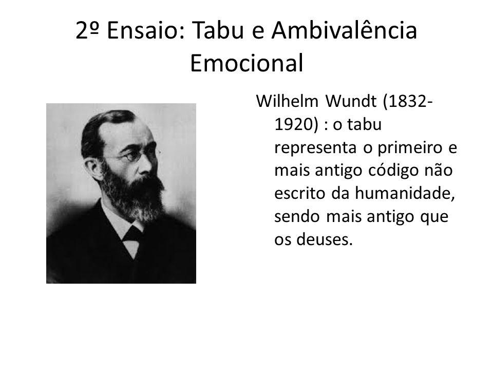 2º Ensaio: Tabu e Ambivalência Emocional