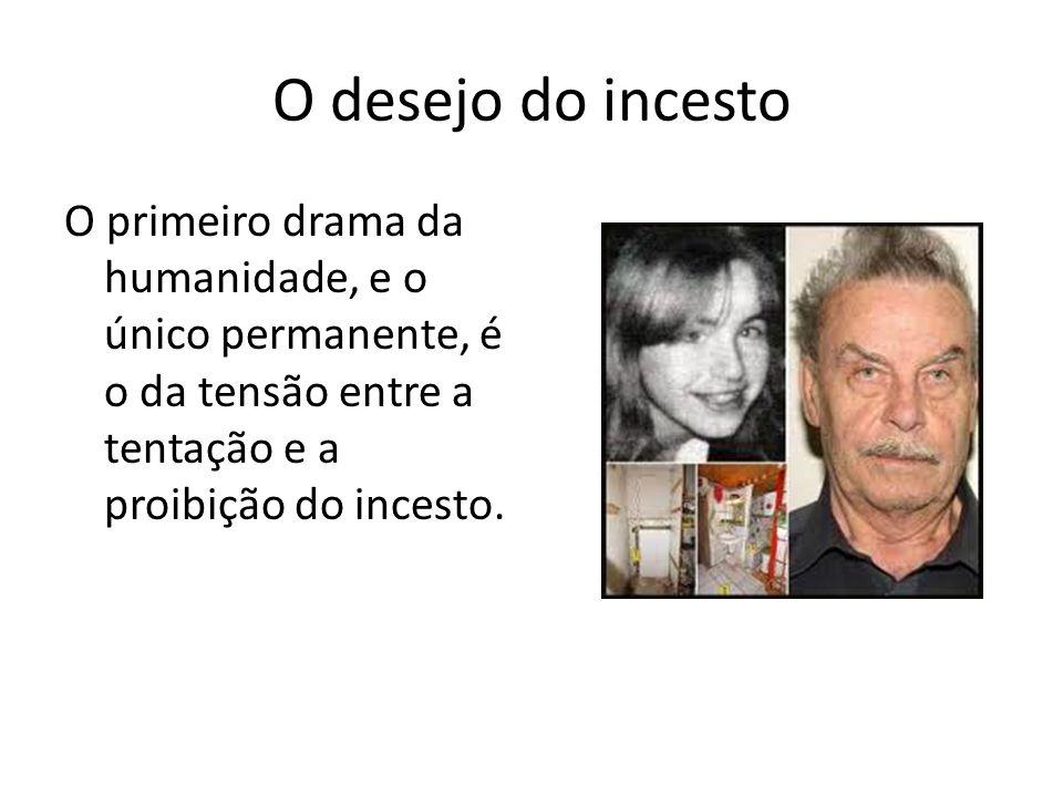 O desejo do incesto O primeiro drama da humanidade, e o único permanente, é o da tensão entre a tentação e a proibição do incesto.