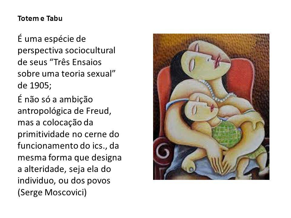 Totem e Tabu É uma espécie de perspectiva sociocultural de seus Três Ensaios sobre uma teoria sexual de 1905;