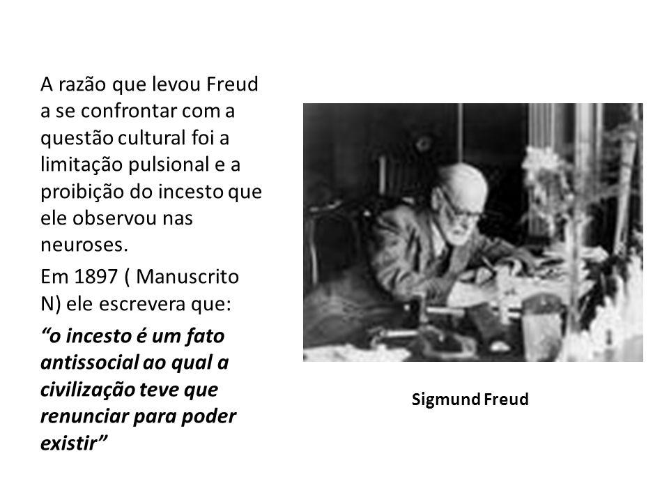 Em 1897 ( Manuscrito N) ele escrevera que: