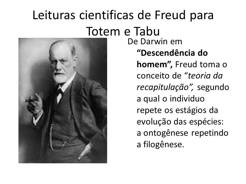 Leituras cientificas de Freud para Totem e Tabu