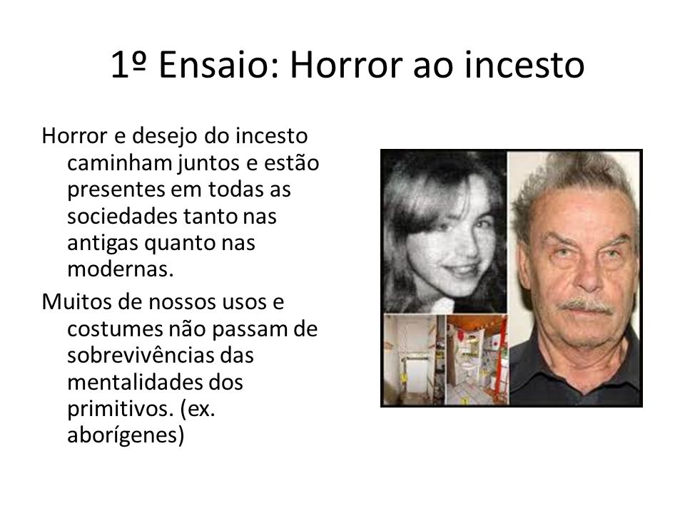 1º Ensaio: Horror ao incesto