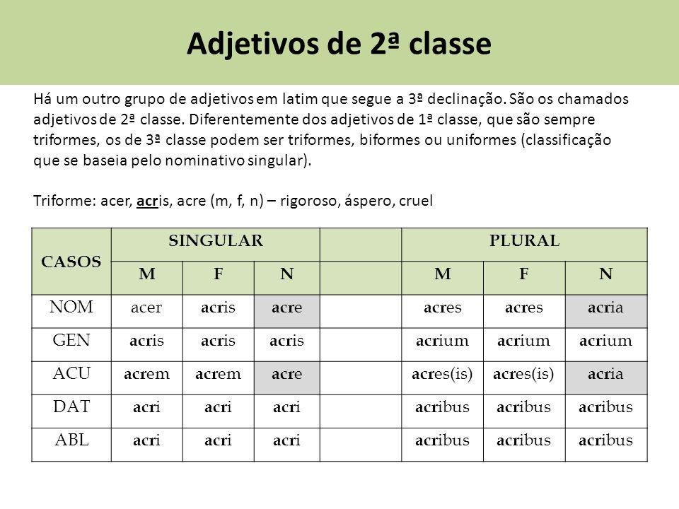 Adjetivos de 2ª classe