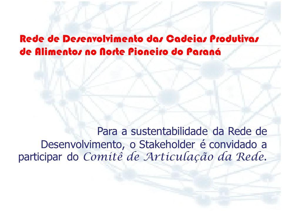 Rede de Desenvolvimento das Cadeias Produtivas. de Alimentos no Norte Pioneiro do Paraná.