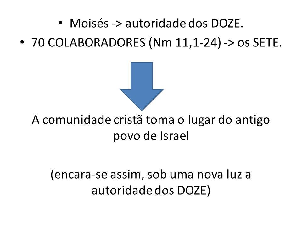 Moisés -> autoridade dos DOZE.