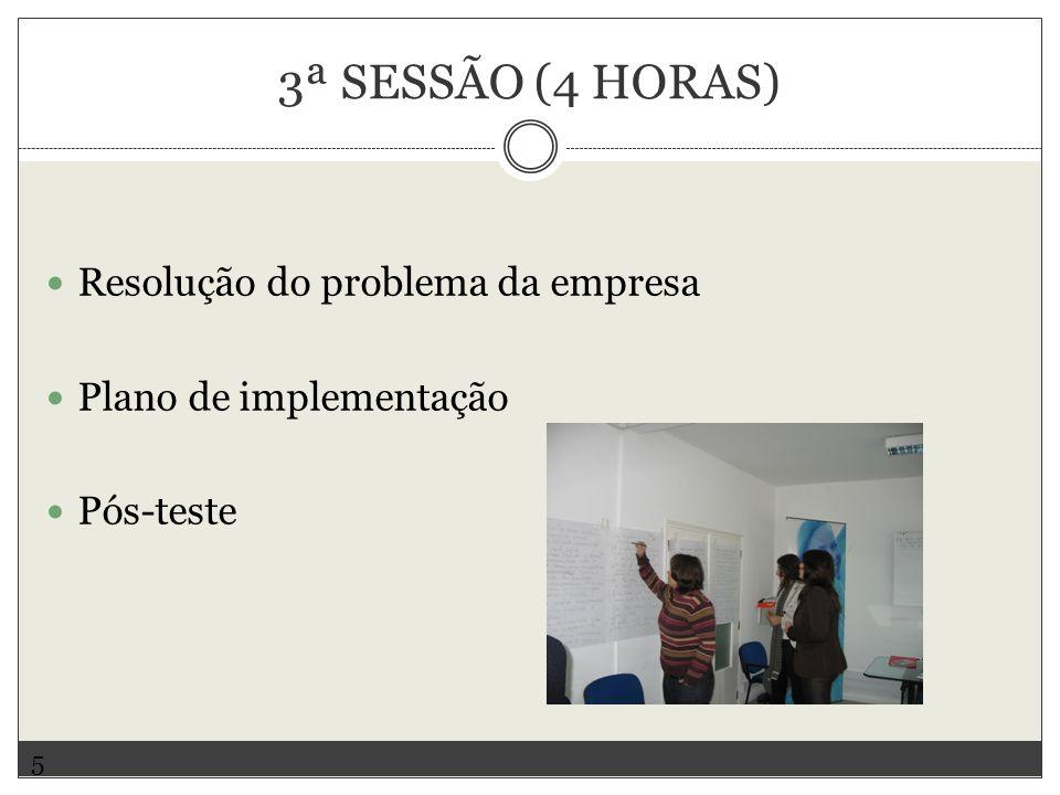 3ª SESSÃO (4 HORAS) Resolução do problema da empresa