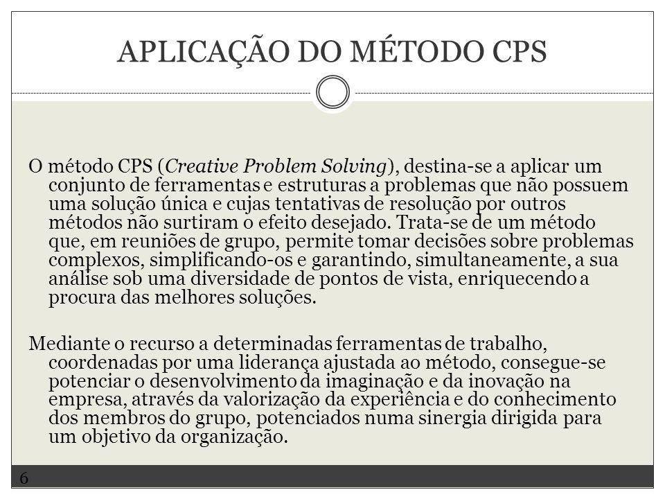 Aplicação do método CPS