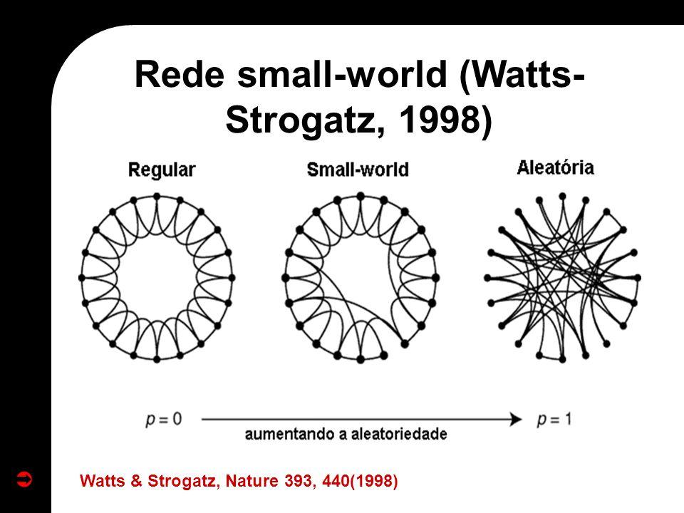 Rede small-world (Watts-Strogatz, 1998)