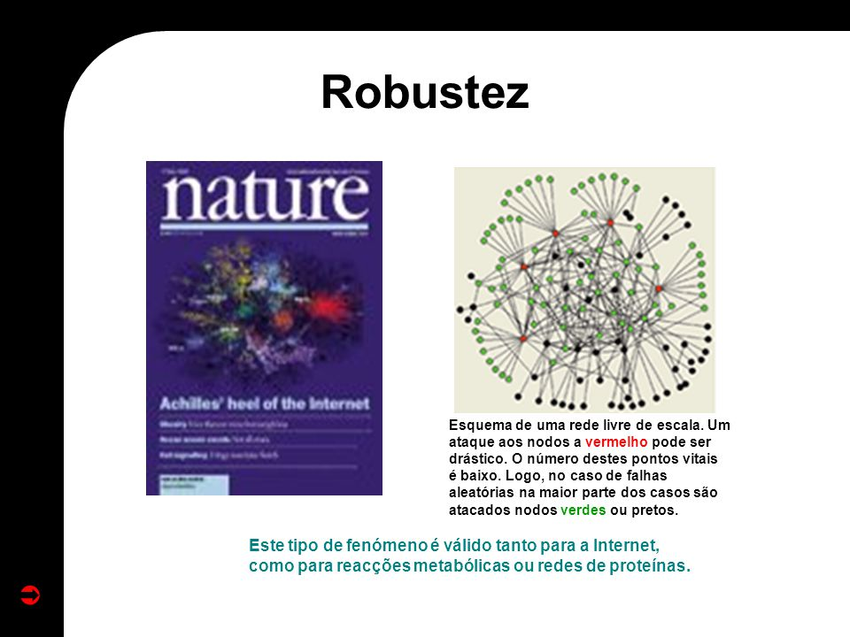 Robustez Eliminar as ligações apropriadas e a web torna-se desconectada.