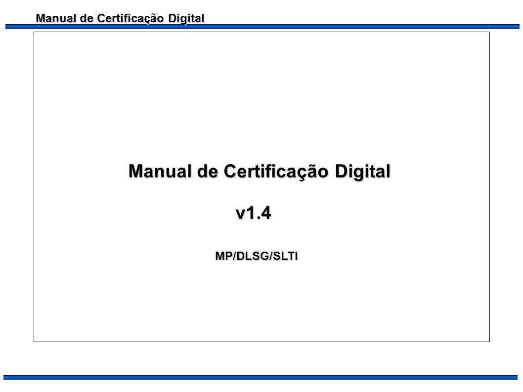 Manual de Certificação Digital