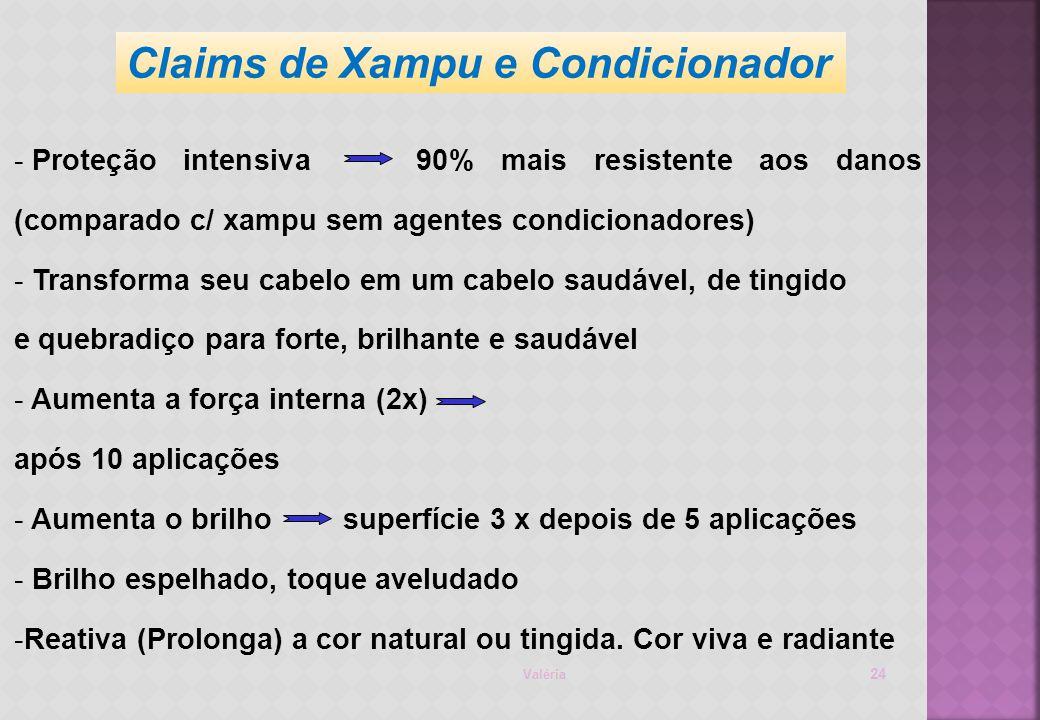 Claims de Xampu e Condicionador
