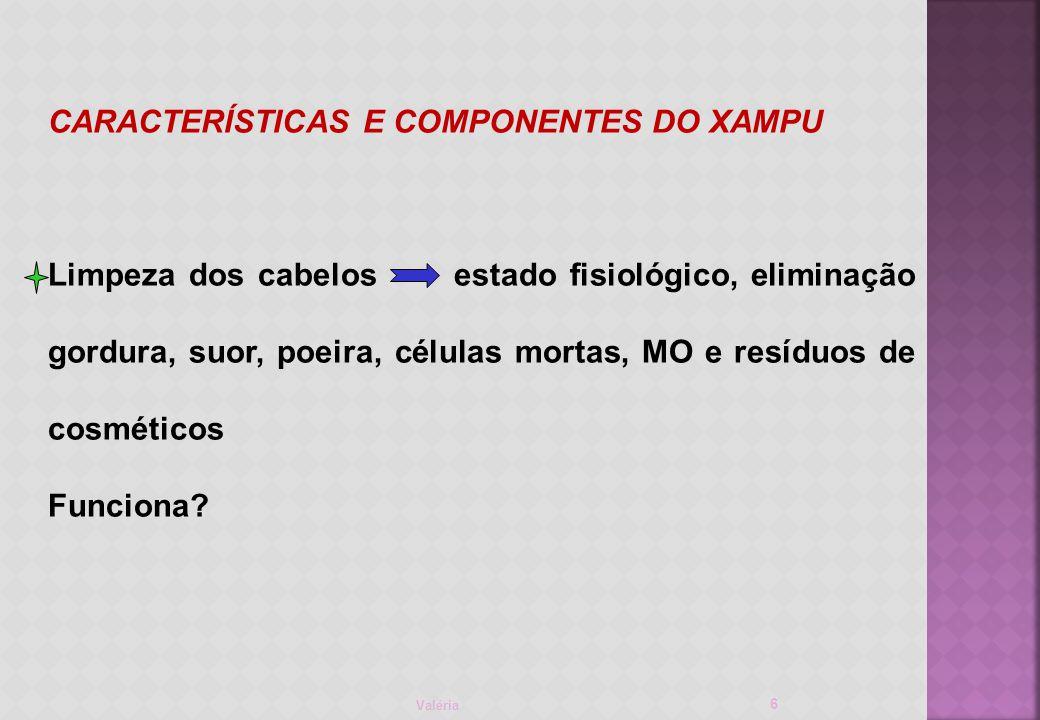 CARACTERÍSTICAS E COMPONENTES DO XAMPU