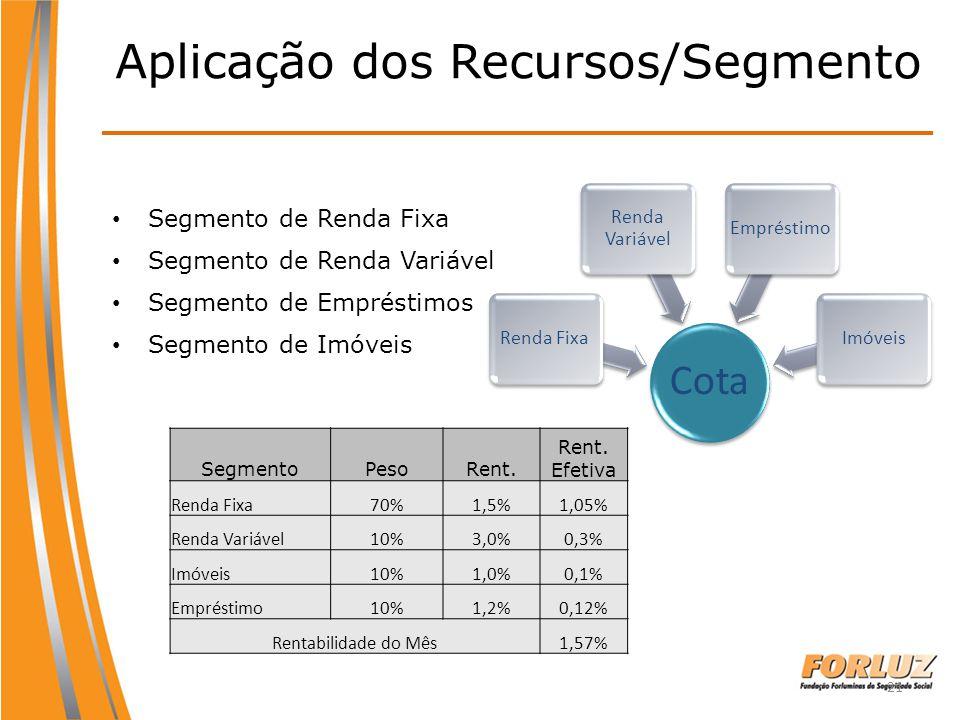Aplicação dos Recursos/Segmento