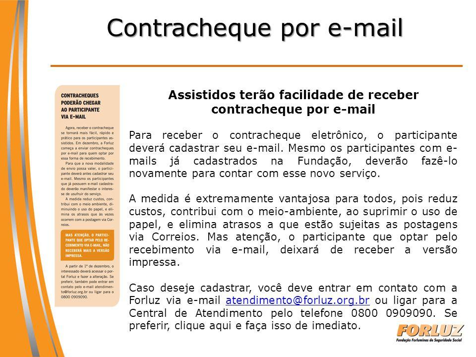 Contracheque por e-mail