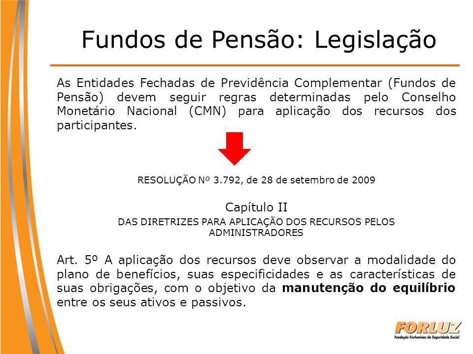 Fundos de Pensão: Legislação