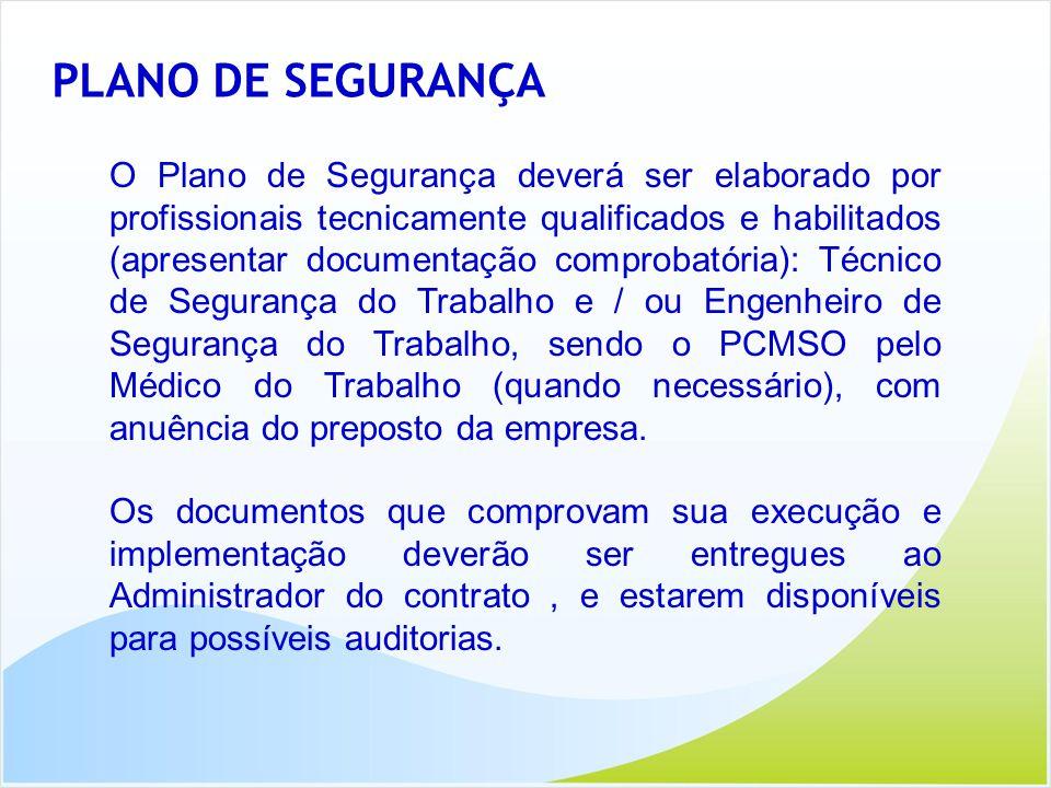 PLANO DE SEGURANÇA