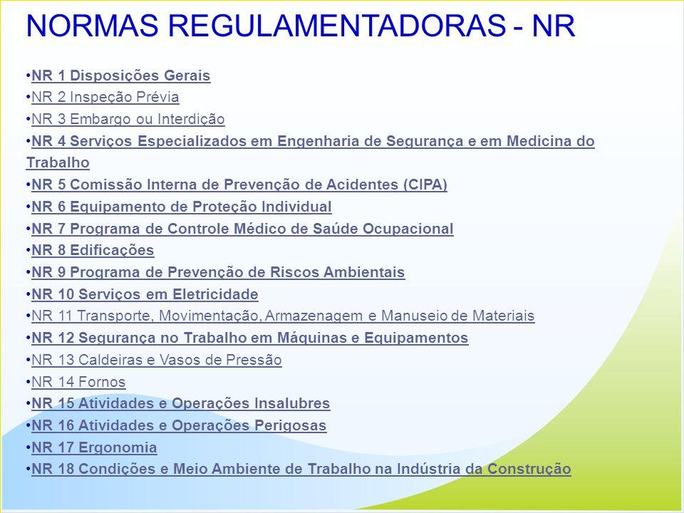 NORMAS REGULAMENTADORAS - NR