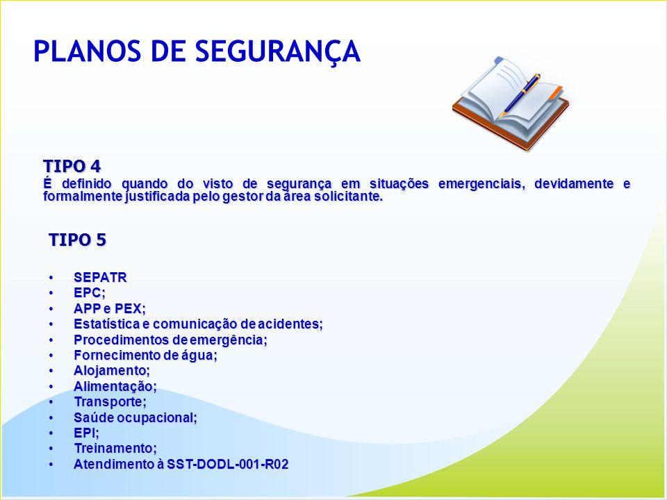 PLANOS DE SEGURANÇA TIPO 4 TIPO 5