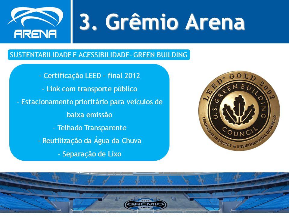 3. Grêmio Arena SUSTENTABILIDADE E ACESSIBILIDADE– GREEN BUILDING