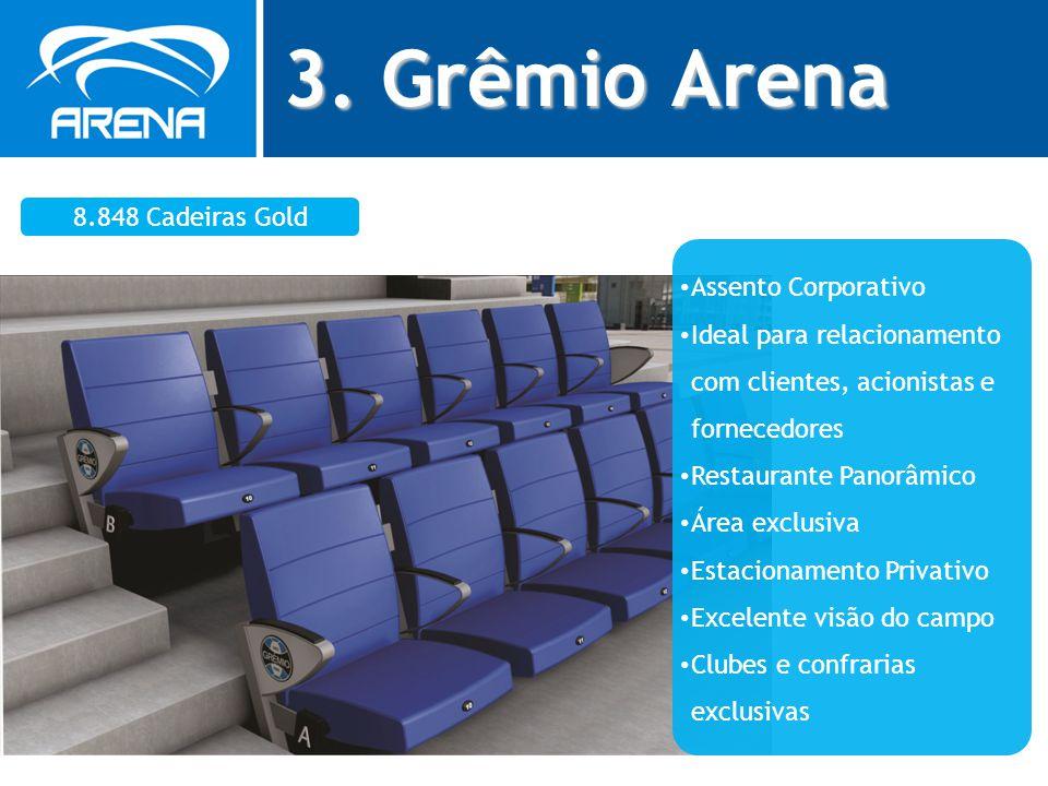3. Grêmio Arena 8.848 Cadeiras Gold Assento Corporativo