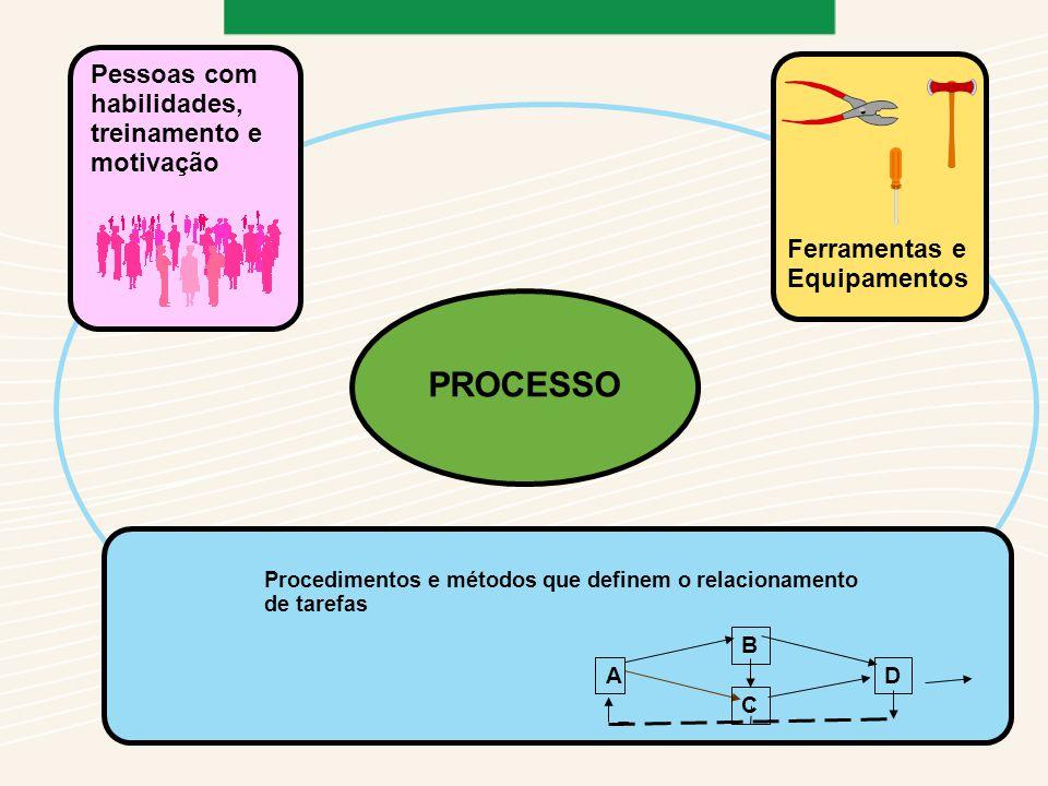 PROCESSO Pessoas com habilidades, treinamento e motivação